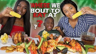 WHERE WE BOUT TO EAT AT?! COLLAB WITH ANTWAIN + KING CRAB SEAFOOD BOIL MUKBANG | QUEEN BEAST