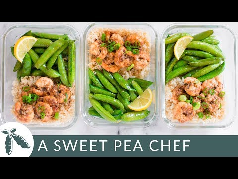 How To Meal Prep | Honey Garlic Shrimp Meal Prep (Under 350 Calories!) | A Sweet Pea Chef