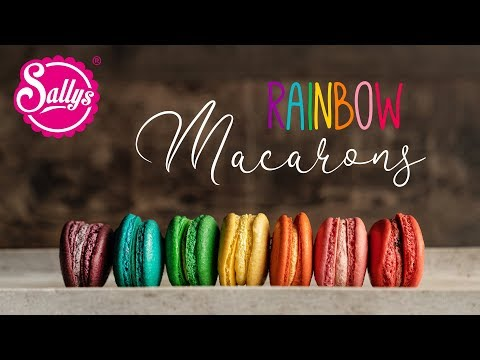 Regenbogen Macarons /  Rainbow Food /Sallys Welt