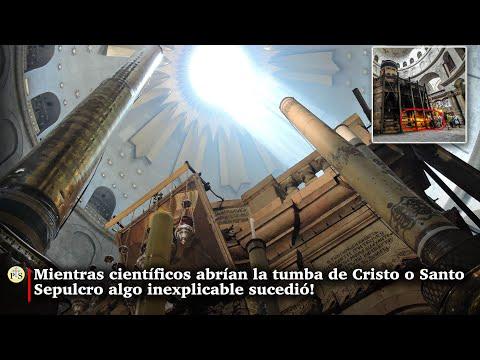 Mientras científicos abrían la tumba de Cristo o Santo Sepulcro algo inexplicable sucedió!