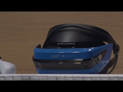 Microsoft's new Mixed Reality controllers and Acer Headset | Microsoft Build 2017
