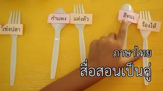 สื่อสอนเป็นคู่ : DIY สื่อง่าย...สอนสนุก ภาษาไทย ป1.-ป.2