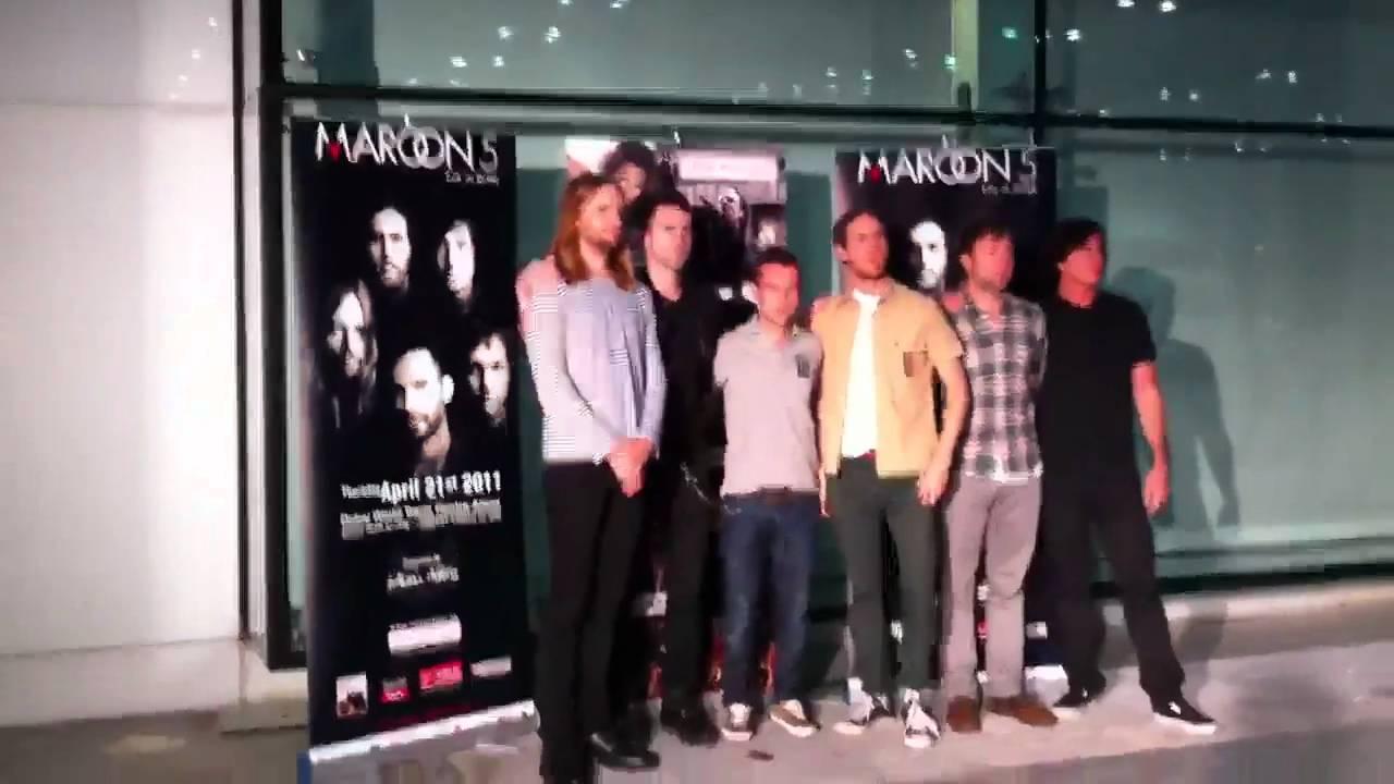 Maroon 5 meet greet dubai april 2011 youtube maroon 5 meet greet dubai april 2011 m4hsunfo