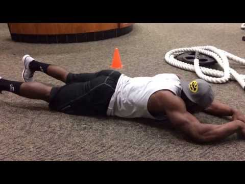Progressive Push Up chest warmup.