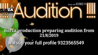 Gambar cover Audition mirza production from 21/8/2019