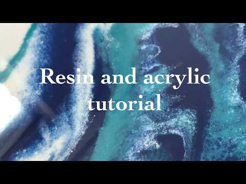 Resin and acrylic tutorial, how to pour resin and acrylic