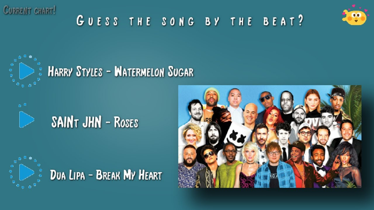 Guess the song by the beat - 2020 Songs!