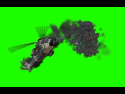 Helicopter Crash - Green Screen 1080p HD! thumbnail