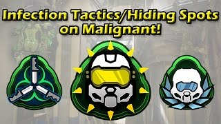 Halo 5 - Infection Tactics/Hiding Spots on Malignant | Part 1!