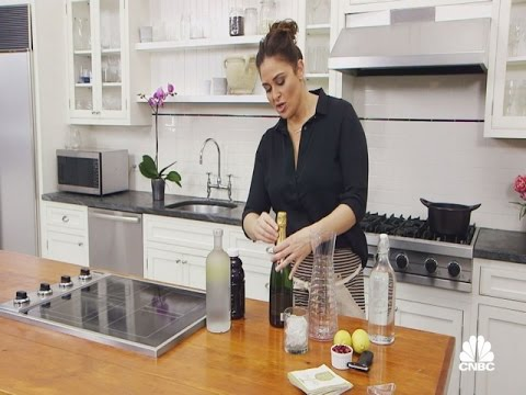 In The Kitchen With Antonia Lofaso: Pomegranate Champagne Cocktail