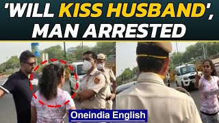 Delhi: Maskless couple misbehaves with police personnel, video goes viral | Oneindia News