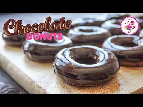 Шоколадные пончики в Духовке. Пончики рецепт.