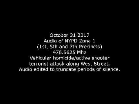NYPD Zone 1 radio Oct 31 2017 Halloween terror attack