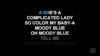 Moody Blue in the style of Elvis Presley karaoke video with lyrics (no lead vocal)