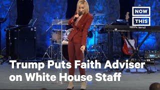 Trump's Faith Advisor Paula White Is Now a White House Staffer. .'When I walk on White House grounds, God walks on White House grounds.'' Of course., From YouTubeVideos