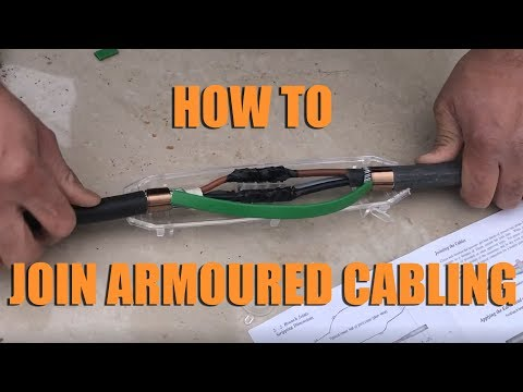 HOW TO: Join Armoured Cabling Using A Resin Underground Armoured Cable Joint Kit