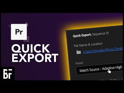 Quick Export For Faster Exports In Premiere Pro 2021