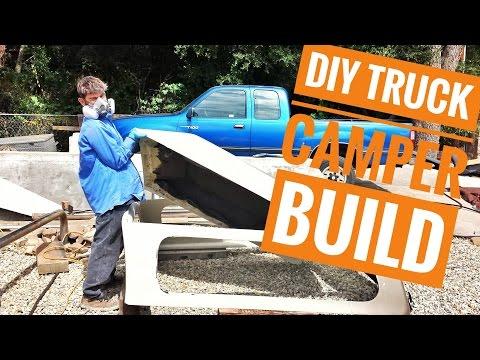 DIY Truck Camper Build Pt.1 OVERLAND TRAVEL VLOG Ep.4