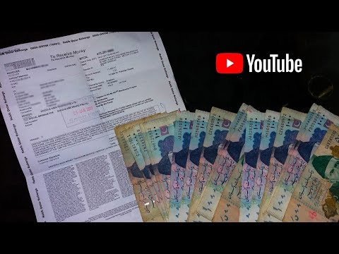 My First Payment Of YouTube From Google Adsense WU Pakistan (612$)