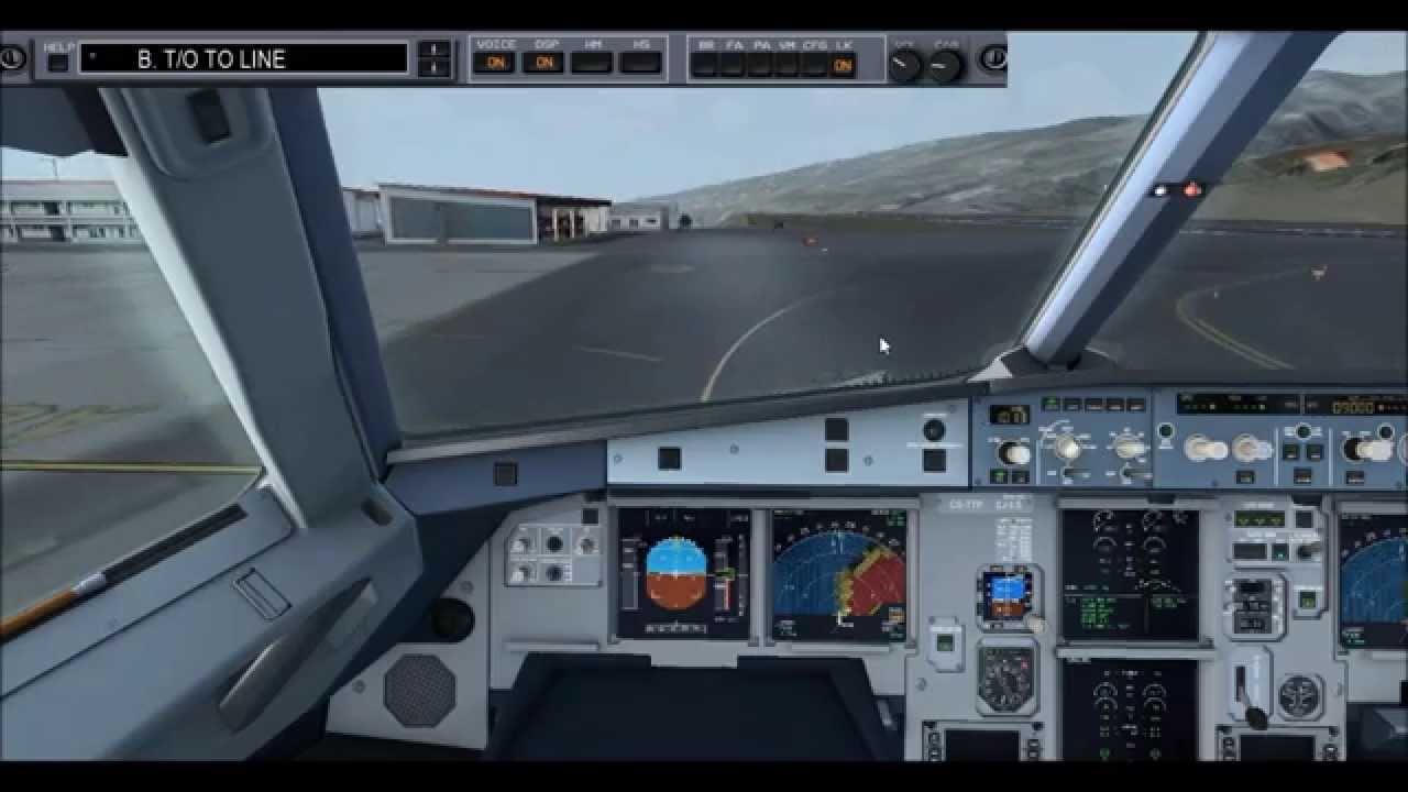 FSX] │FS2Crew│Airbus Procedures - Departure from Madeira