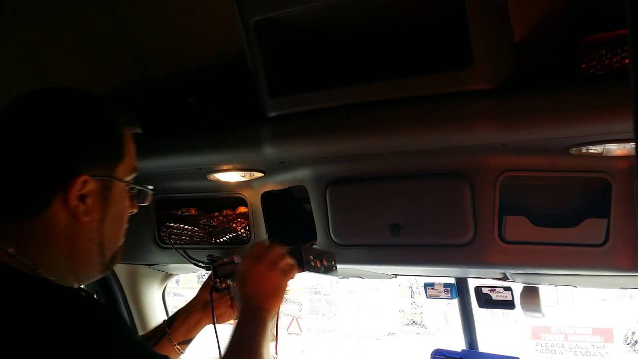 how to install a cb radio in your 2015 freightliner cascadia [ 1280 x 720 Pixel ]