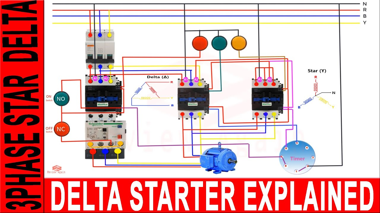 3 Phase Induction Motor With Star Delta Starter Connection