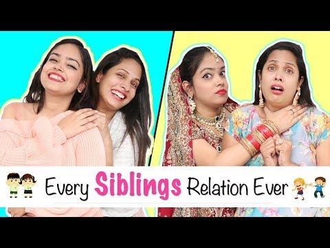 Every SIBLINGS Relation Ever - Types of BHAI-BEHAN | #Fun #Sketch #Roleplay #ShrutiArjunAnand