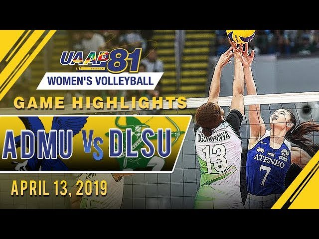 UAAP 81 WV: ADMU vs. DLSU | Game Highlights | April 13, 2019