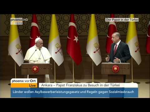 Ankara: Papst Franziskus & Recep Erdogan zu Asylpolitik am 28.11.2014