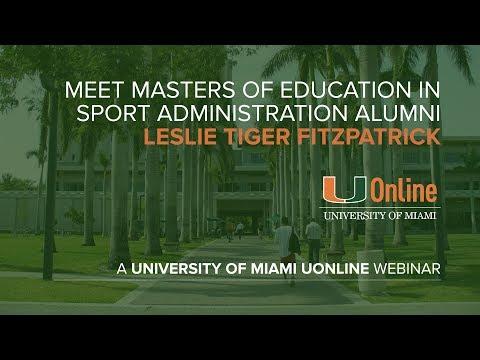 Meet Masters of Education in Sport Administration alumni Leslie Tiger Fitzpatrick