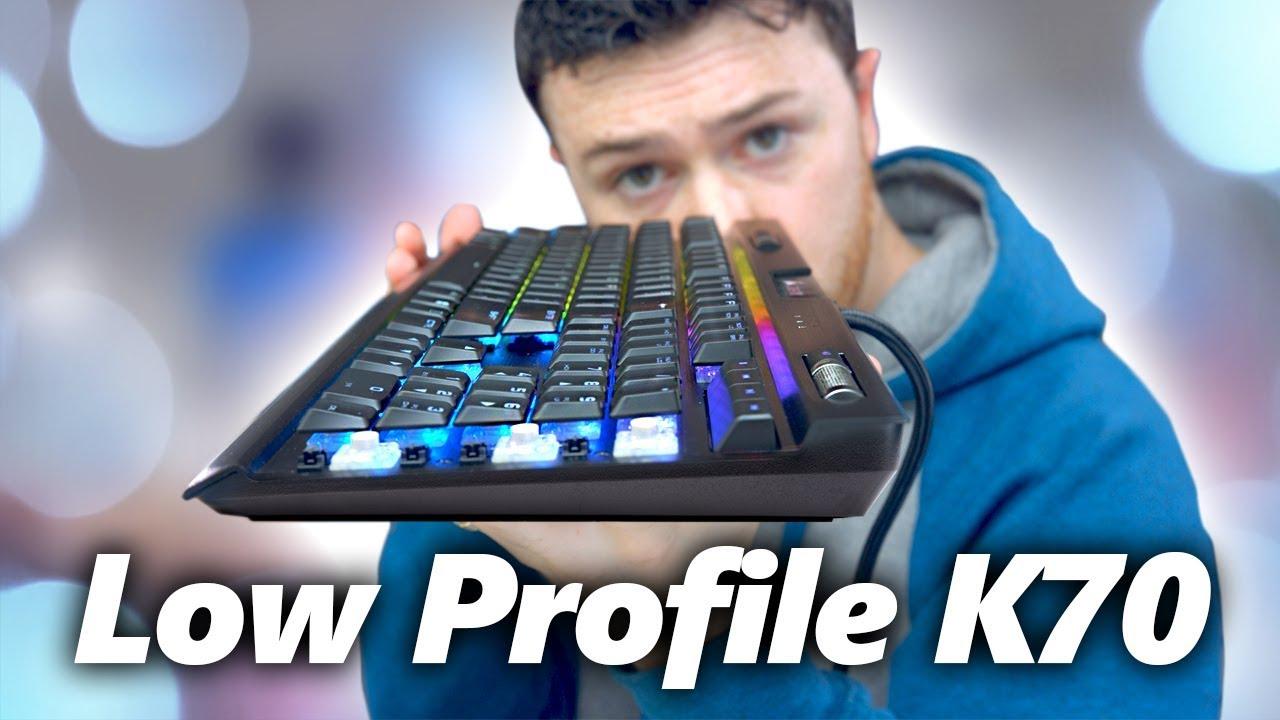 Checking out the LOW PROFILE Corsair K70 RGB Mk.2 Gaming Keyboard!