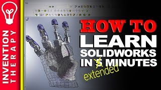 Learn Solidworks in 5 Minutes+ [Part 3] Extended Solidworks Tutorial