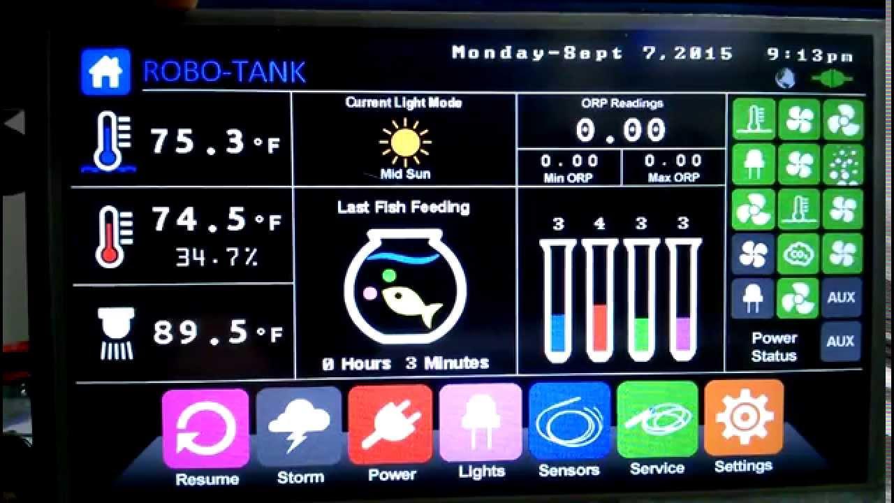Robo-Tank DIY All-In-One Aquarium Controller - Software Update