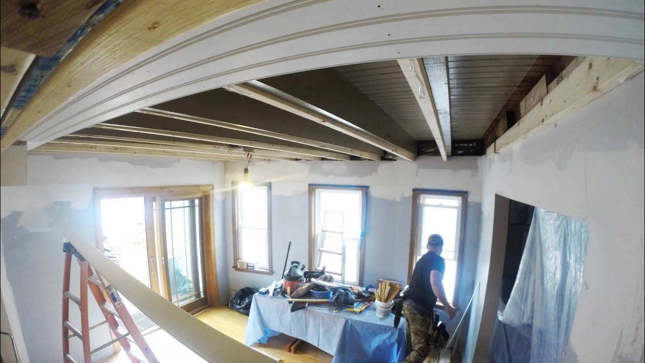 Tongue And Groove Beadboard Ceiling Installation