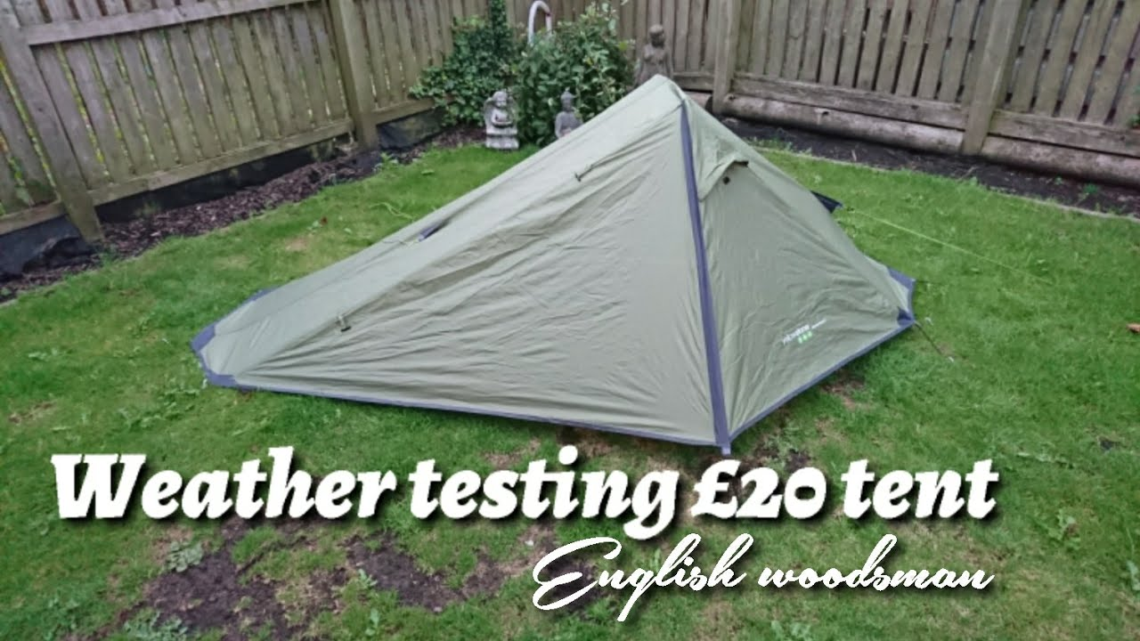 Weather testing a low budget £20 one man tent from Yellowstone & Weather testing a low budget £20 one man tent from Yellowstone ...