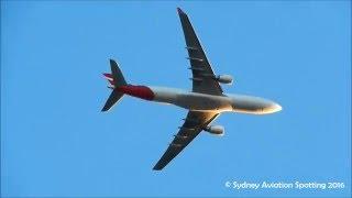 Video Qantas Airbus A330-202 [VH-EBG] Approach Sydney Airport download MP3, 3GP, MP4, WEBM, AVI, FLV Juli 2018