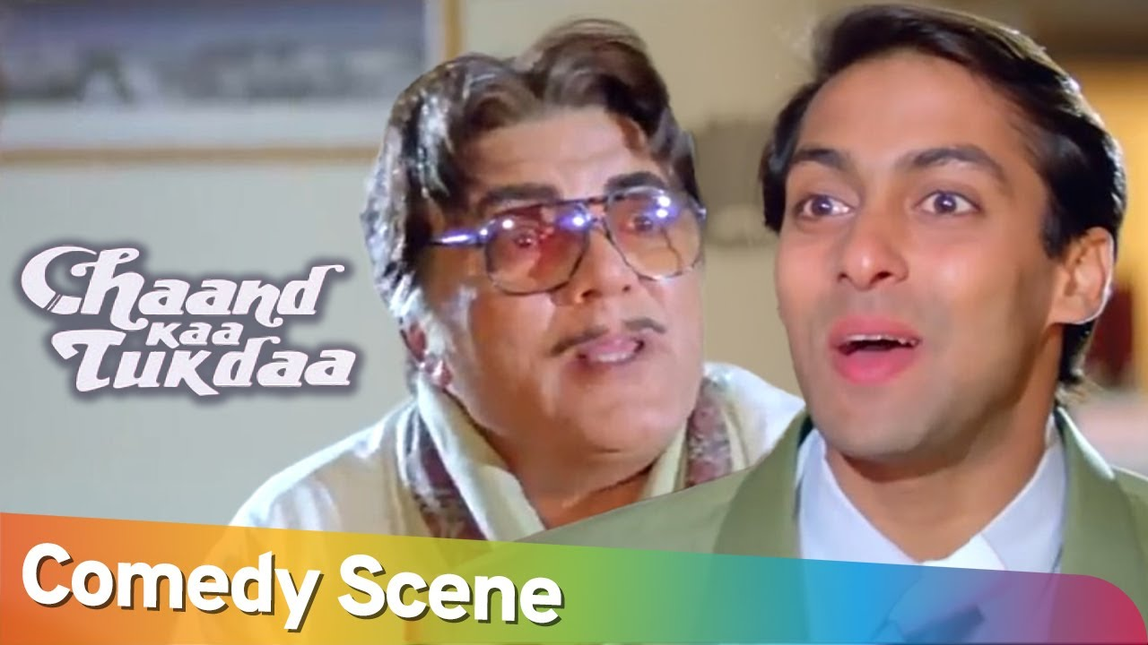 Best of Hindi Comedy Scene | Superhit Movie Chaand Kaa Tukdaa | Salman Khan - Mehmood - Sridevi