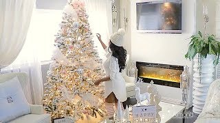 Blush pink & white Christmas decorating ideas, Decorate My Tree With Me Rose Gold