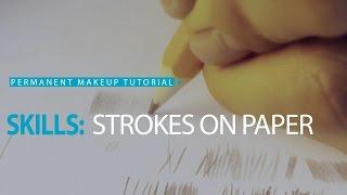 Permanent makeup tutorial: Practice on paper, exercise #1/ Урок татуажа на бумаге №1