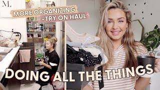 ORGANIZE WITH ME + TRY ON HAUL: Self Isolation Home Vlog
