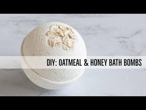 DIY Oatmeal & Honey Bath Bombs