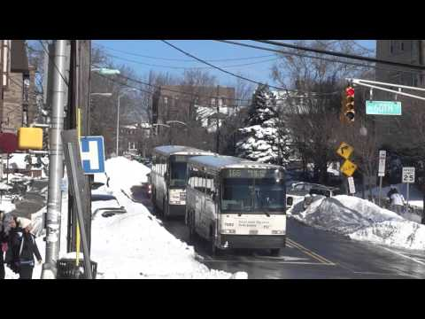 New Jersey Transit: First Row Of Buses 166 On Their Way To NYC After Blizzard Jonas