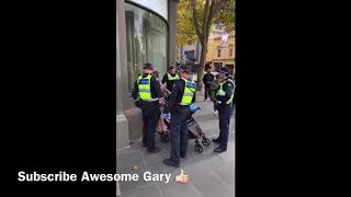MELBOURNE CORONAVIRUS PROTESTORS ARRESTED - HEAVY HANDED POLICE