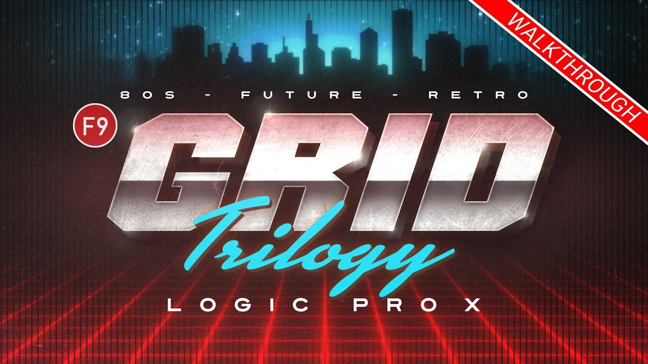 F9 Grid Trilogy 80s Future Retro - For Logic Pro X 260+ patches