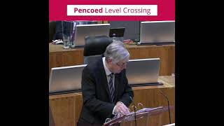 Huw Irranca-Davies MS relays First Minister's update on Pencoed Level Crossing - June 2021