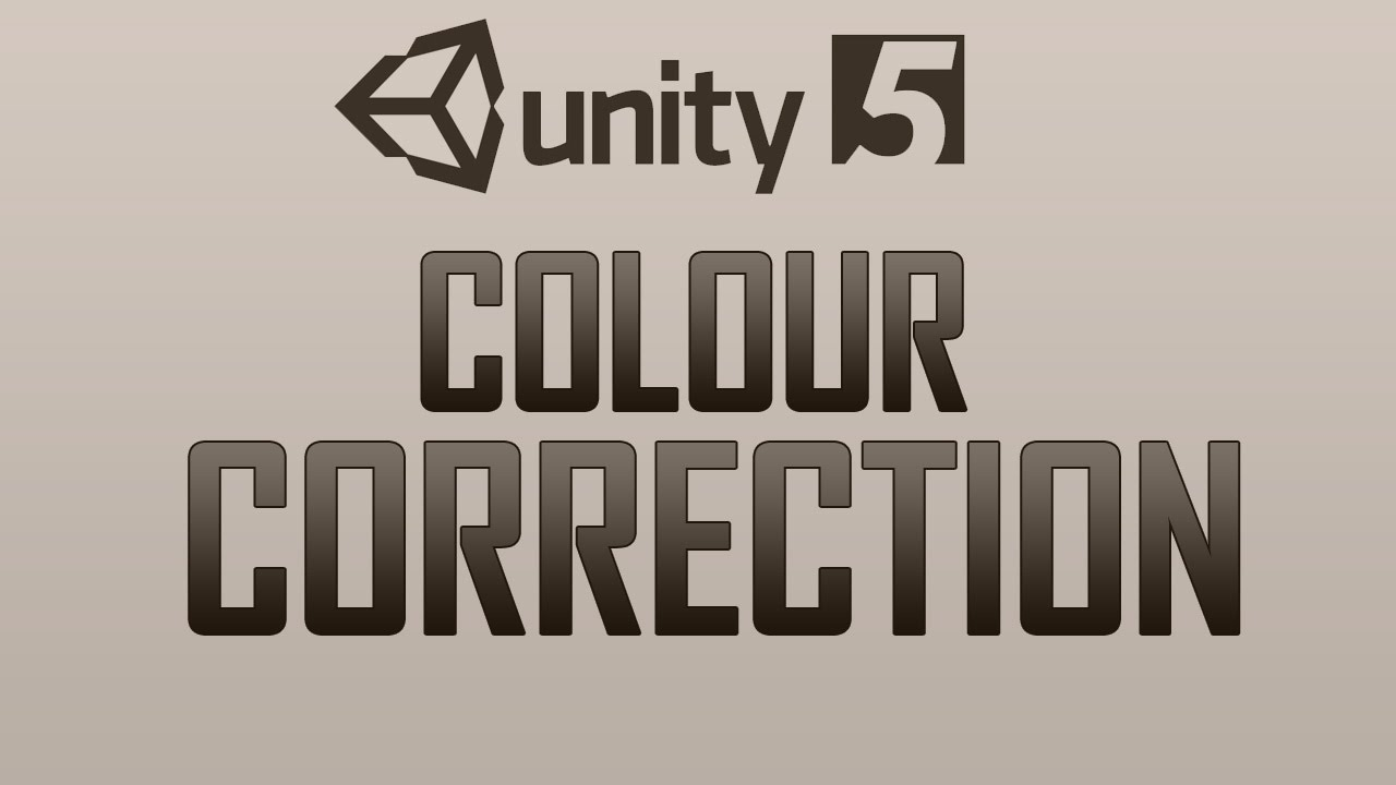 How to use Colour Correction in Unity 5