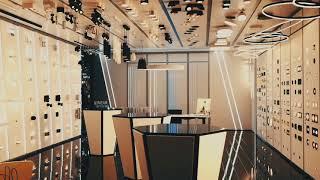 Ремонт современного, стильного и технологически продуманного салона света.
