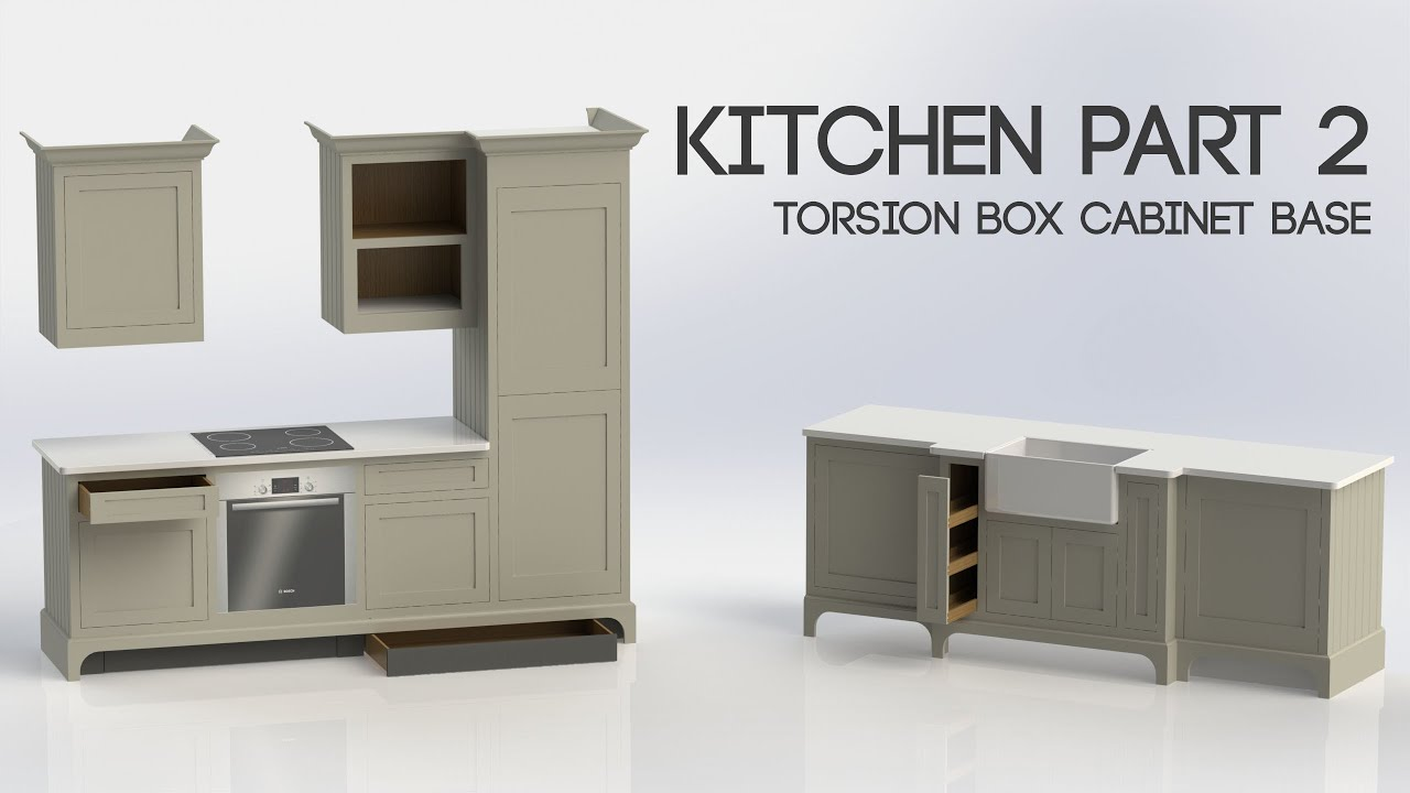 012 kitchen part 2 torsion box cabinet base youtube 012 kitchen part 2 torsion box cabinet base