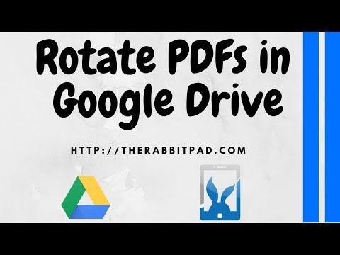How to Rotate a PDF in Google Drive - YouTube