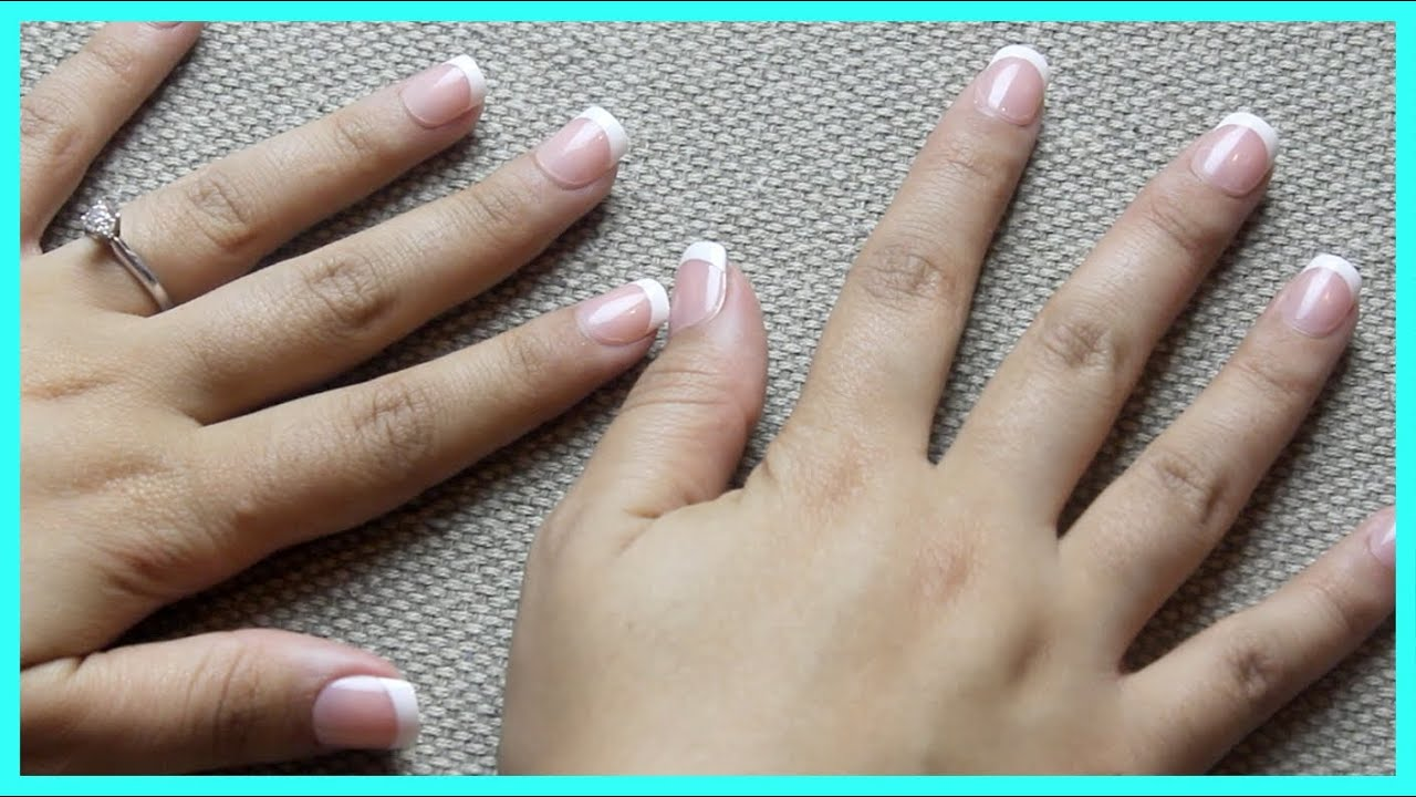 Quick Press-On French Manicure Tutorial ♥ ImPress Nails Demo - YouTube